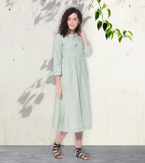 Pistachio plain dress