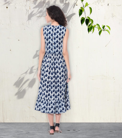 Indigo long dress