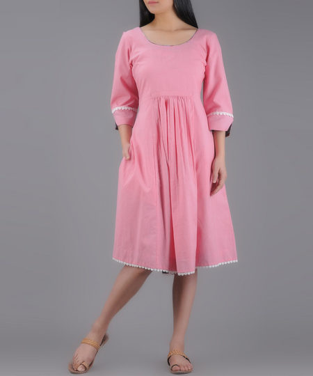 FLAIRED PINK DRESS