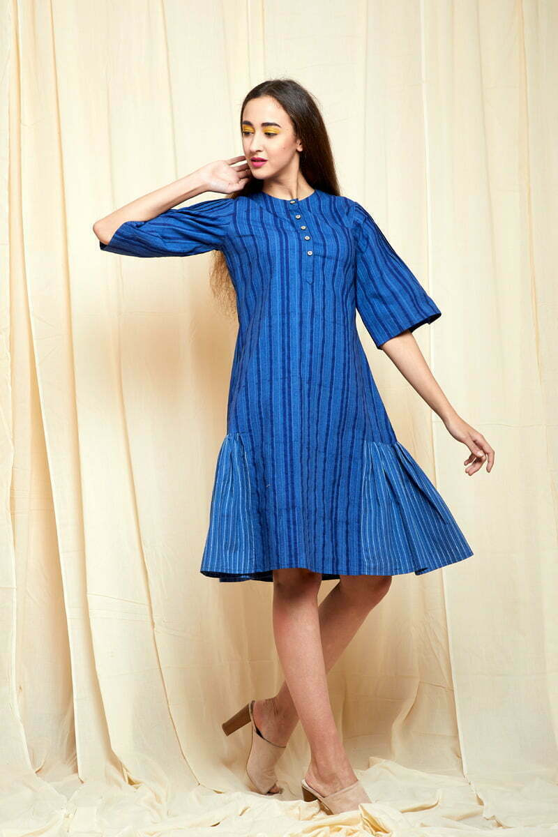 Shades Of Blue Dress Hand Crafted Products Indian Fashion Designers